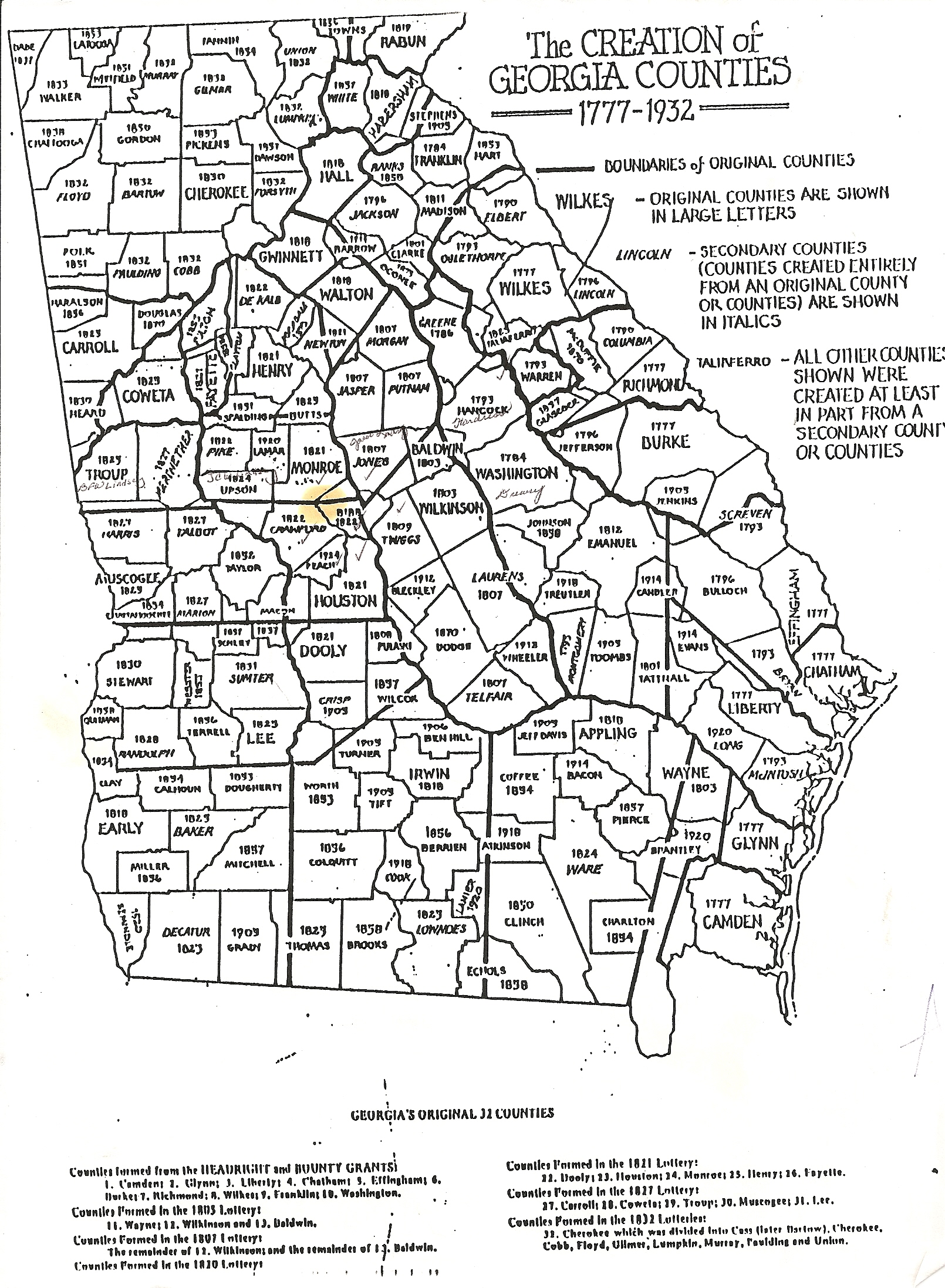 Family Groups Of Lindseys In Georgia - Map of southern georgia