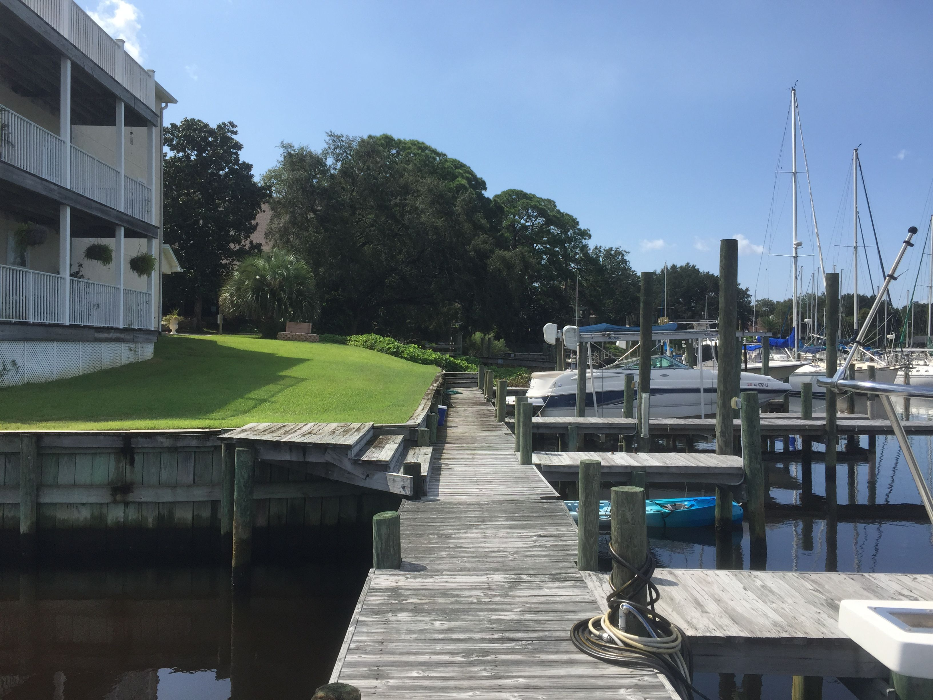 Bayou townhouse and dock