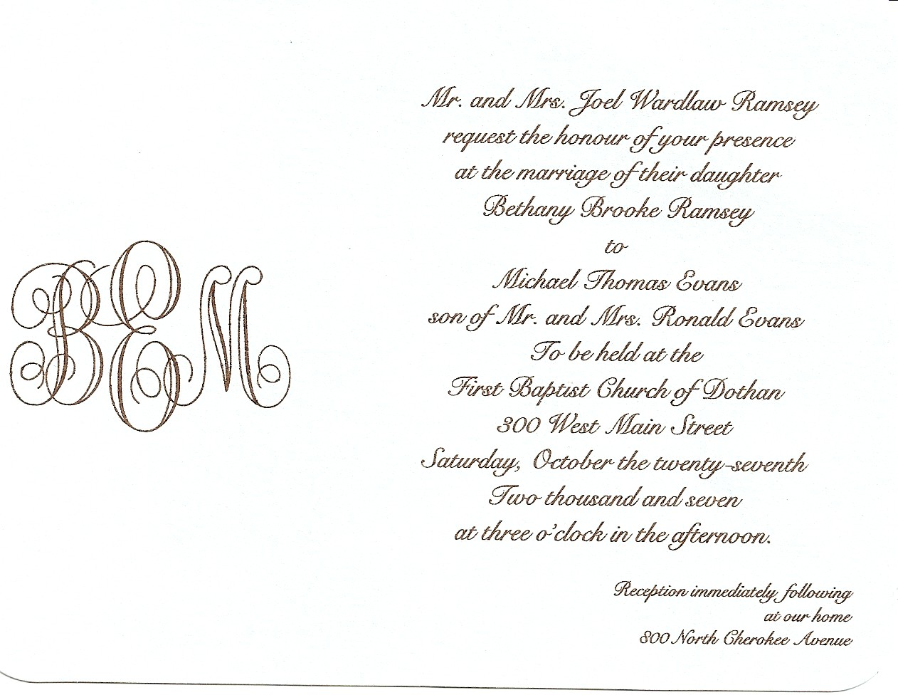 How To Write Invitation For Wedding: Simply Southern Wedding